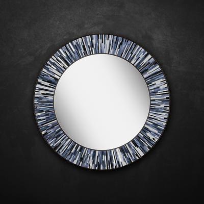 Roulette PIAGGI grey glass mosaic round mirror image 8