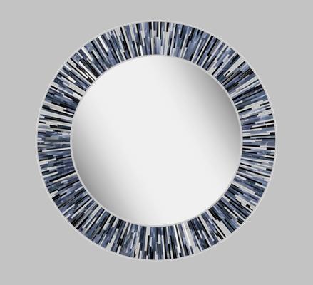 Roulette PIAGGI grey glass mosaic round mirror image 11
