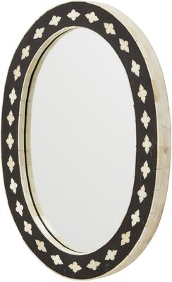 Inlaid Bone Oval Wall Mirror