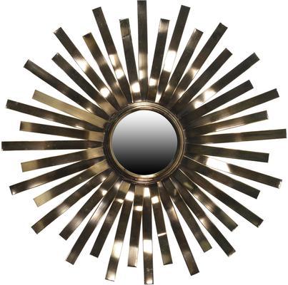 Glossy Sunburst Wall Mirror
