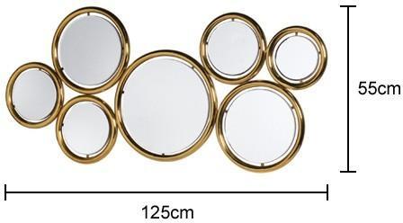 Seven Circles Wall Mirror image 2