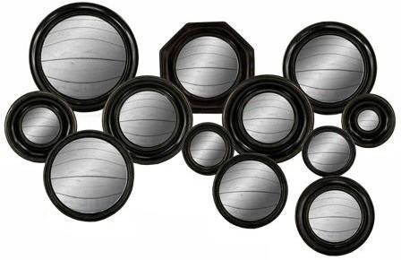 Set of 12 Porthole Convex Mirrors image 2