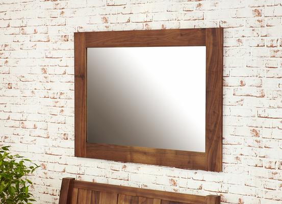 Mayan Walnut Medium Mirror Rustic