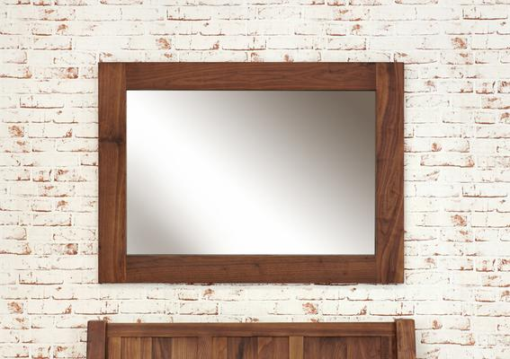Mayan Walnut Medium Mirror Rustic image 2