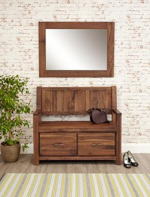 Mayan Walnut Medium Mirror Rustic image 3