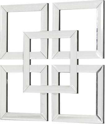Interlocking Squares Mirror Art