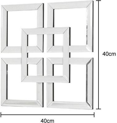 Interlocking Squares Mirror Art image 2