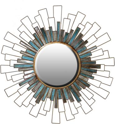 Panelled Sunburst Wall Mirror