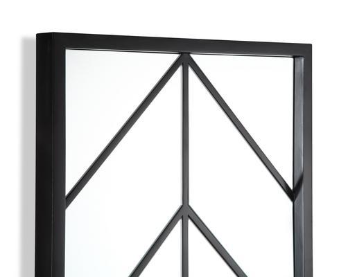 Clapton Chevon Mirror Wooden Frame image 2
