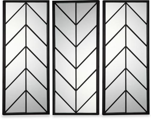 Clapton Chevon Mirror Wooden Frame image 3