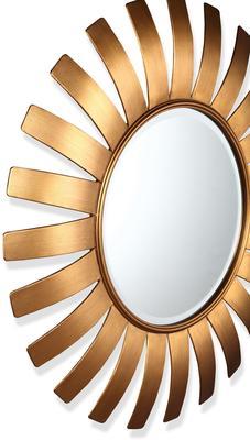 Paris Sunburst Mirror Antique Bronze or Gold image 2