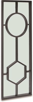 Sloan Black Oak Frame Mirror Art Deco