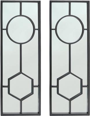 Sloan Black Oak Frame Mirror Art Deco image 2