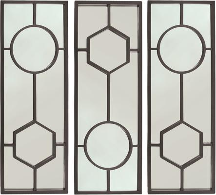 Sloan Black Oak Frame Mirror Art Deco image 3