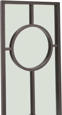 Sloan Black Oak Frame Mirror Art Deco image 4