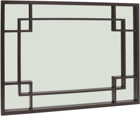 Rochester Art Deco Mirror Wenge Oak Wood Frame