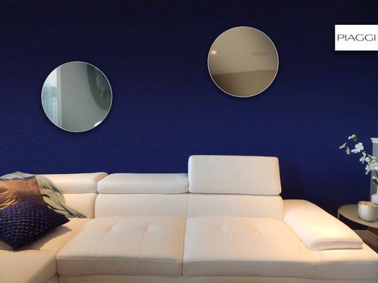 Popy Graphite Round Mirror image 7