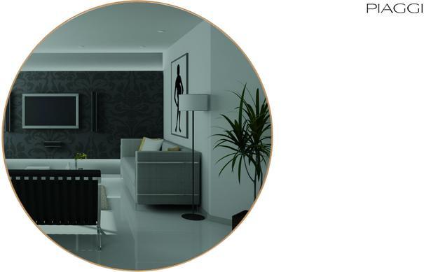 Popy Graphite Round Mirror image 9