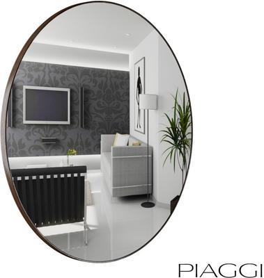 Popy Silver Round Mirror image 3