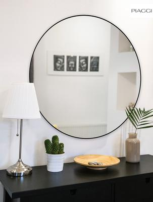 Popy Silver Round Mirror image 4