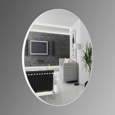 Popy Silver Round Mirror