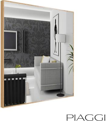 Popy Silver Square Mirror image 9