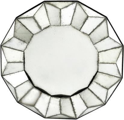 Santiago Antique Round Sun Mirror