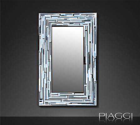 Barbarella Blue PIAGGI Modern Glass Mosaic Mirror image 4
