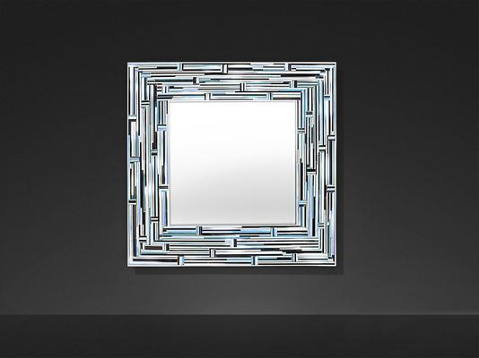 Barbarella Blue PIAGGI Modern Glass Mosaic Mirror