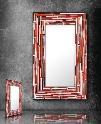 Barbarella Red PIAGGI Modern Glass Mosaic Mirror