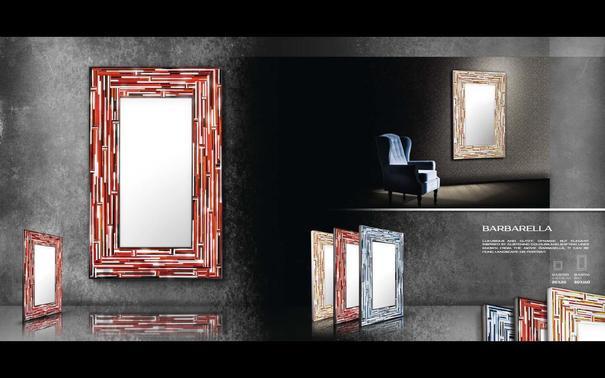 Barbarella Red PIAGGI Modern Glass Mosaic Mirror image 5