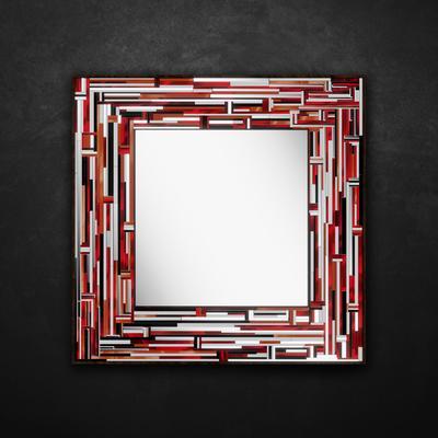 Barbarella Red PIAGGI Modern Glass Mosaic Mirror image 10