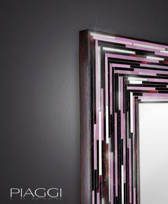 Big Q Dark Pink Glass Mosaic Modern Mirror image 3