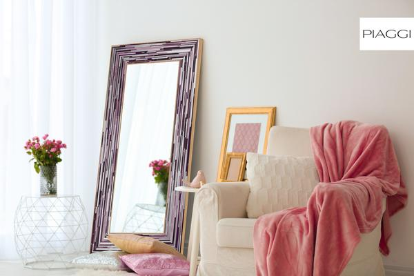 Big Q Dark Pink Glass Mosaic Modern Mirror image 7