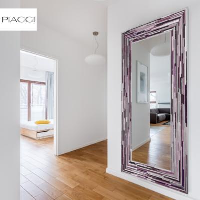 Big Q Dark Pink Glass Mosaic Modern Mirror image 12