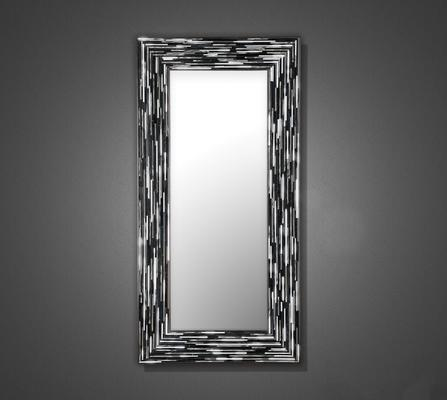 Big Q Grey Glass Mosaic Modern Mirror