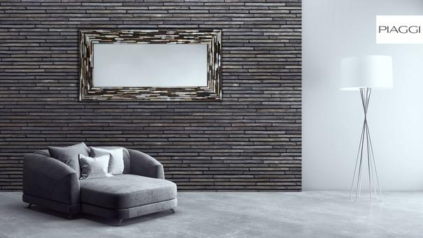 Big Q Grey Glass Mosaic Modern Mirror image 11
