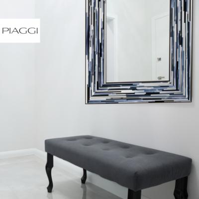 Big Q Grey Glass Mosaic Modern Mirror image 13