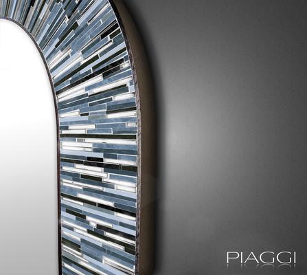 Stadium PIAGGI grey glass mosaic mirror image 3