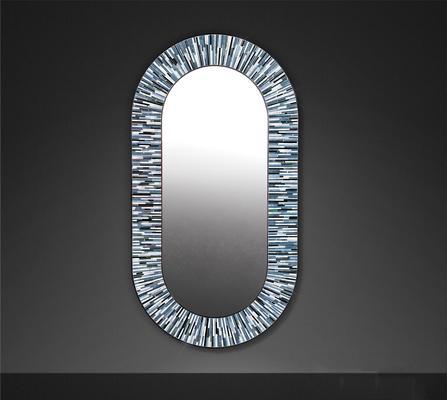 Stadium PIAGGI grey glass mosaic mirror