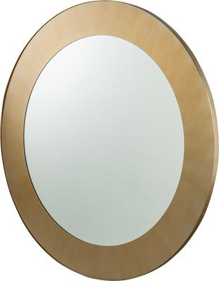 Camden Circular Mirror 100cm brushed brass frame