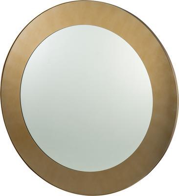 Camden Circular Mirror 100cm brushed brass frame image 2