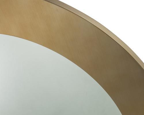 Camden Circular Mirror 100cm brushed brass frame image 3