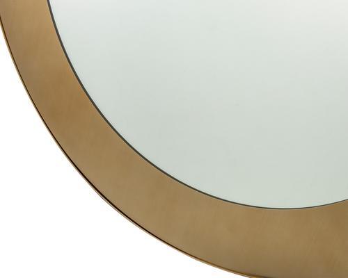 Camden Circular Mirror 100cm brushed brass frame image 4