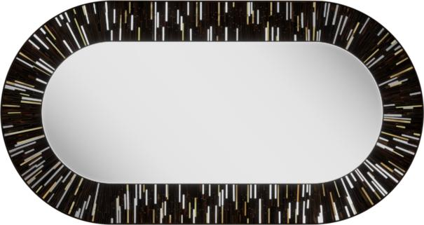 Stadium PIAGGI dark brown glass mosaic mirror image 2