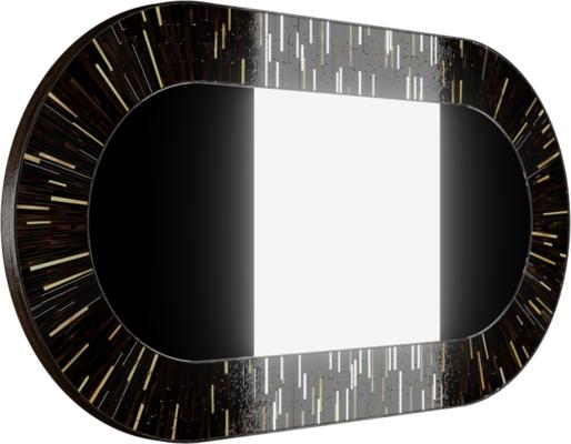 Stadium PIAGGI dark brown glass mosaic mirror image 3