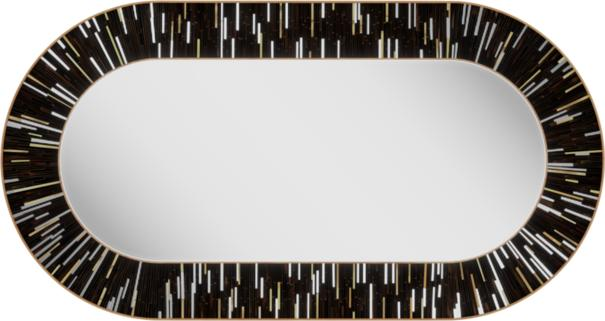Stadium PIAGGI dark brown glass mosaic mirror image 4