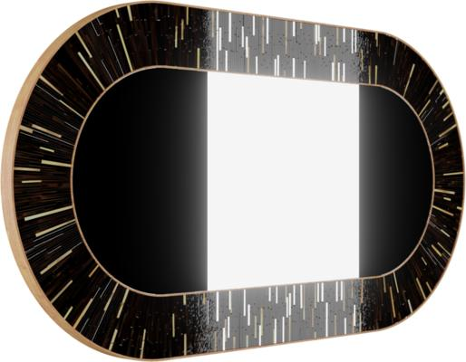 Stadium PIAGGI dark brown glass mosaic mirror image 5