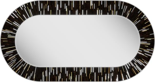 Stadium PIAGGI dark brown glass mosaic mirror image 6