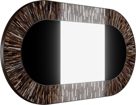 Stadium PIAGGI brown glass mosaic mirror image 2